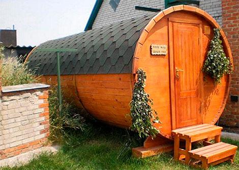 деревянная баня бочка купить в москве